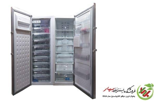یخچال فریزر دوقلوی الکترواستیل مدل Es24 prime