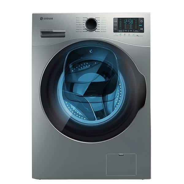 ماشین لباسشویی اسنوا مدل swm-843 ظرفیت ۸ کیلوگرم رنگ نقره ای ادواش