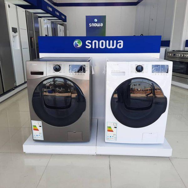 ماشین لباسشویی اسنوا مدل ادواش رنگ سفید و نقره ای