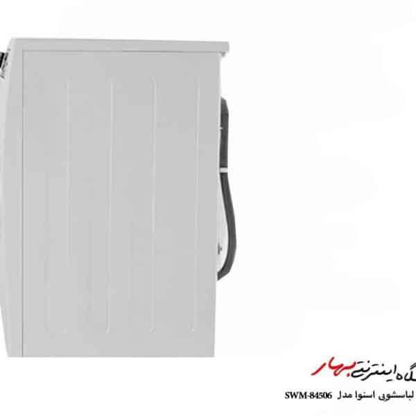 ماشین لباسشویی اسنوا مدل SWM-84506 سری اکتا رنگ سفید ظرفیت 8 کیلوگرم