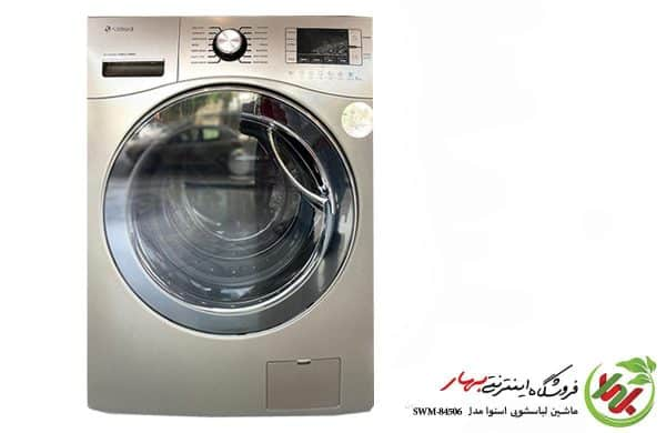 ماشین لباسشویی اسنوا مدل SWM-84508 سری اکتا رنگ تیتانیوم ظرفیت 8 کیلوگرم