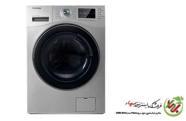ماشین لباسشویی دوو مدل DWK-8540 سری وایت لند پریمو ظرفیت 8 کیلوگرم تیتانیوم